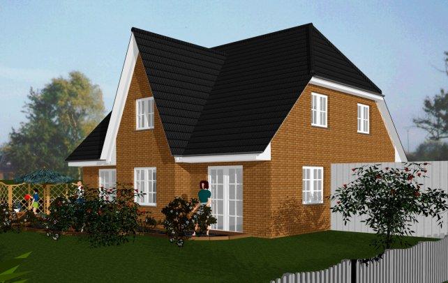 visualisierung einfamilienh user. Black Bedroom Furniture Sets. Home Design Ideas
